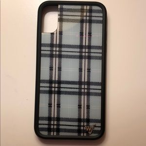 blue plaid wildflower case for iphone x